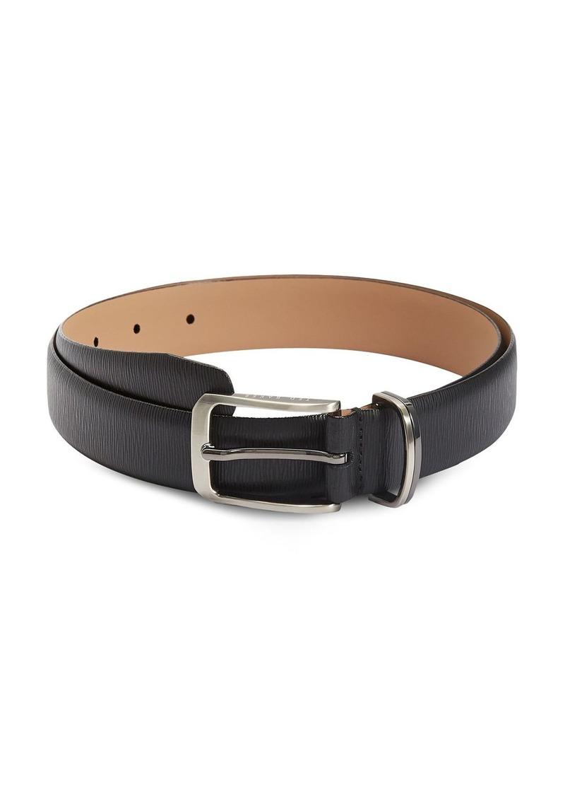 Ted Baker Men's Olivio Woodgrain Detail Leather Belt