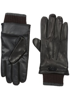Ted Baker Men's Quiff Ribbed Cuff Leather Glove  /Xlarge
