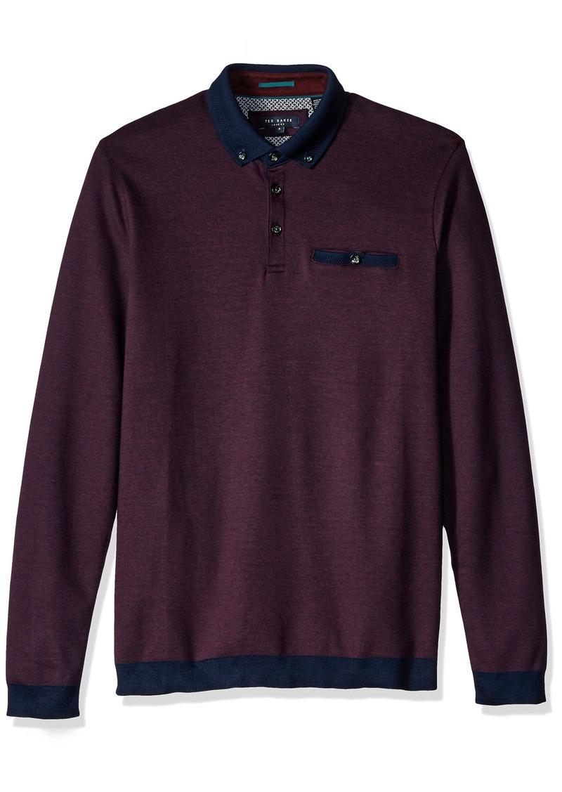 Ted baker ted baker men 39 s ronaldo long sleeve polo shirt for Ted baker shirts sale online