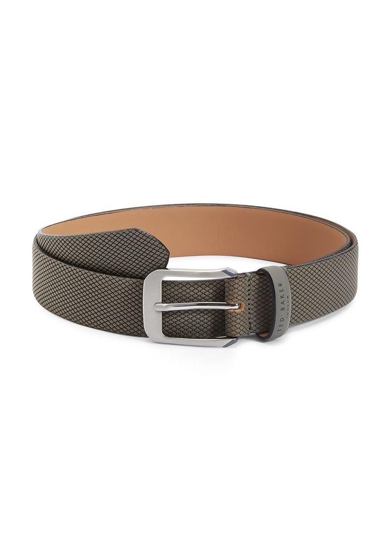 Ted Baker Men's Streaky Rubberized Leather Belt