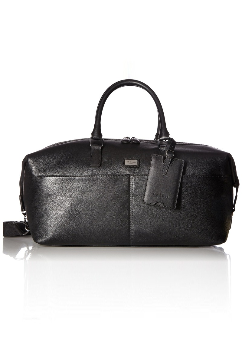 On Sale today! Ted Baker Ted Baker Men s Tiger Leather Holdall Black ... 6f597da06985a