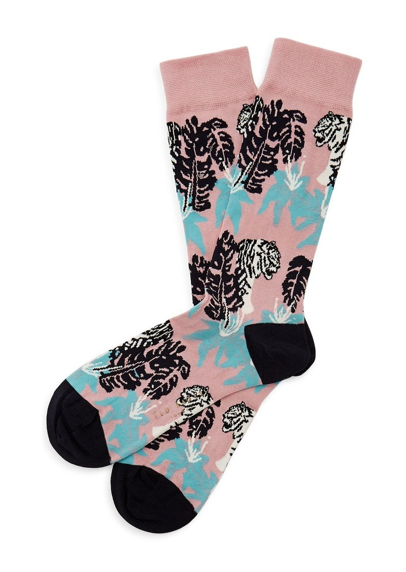 Ted Baker Milam Tiger & Jungle Pattern Socks