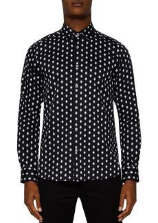 Ted Baker Mineral Geometric Regular Fit Button-Down Shirt