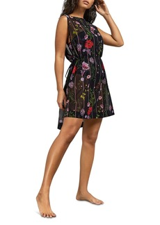 Ted Baker Mollii Hedgerow-Print Tunic Swim Cover-Up