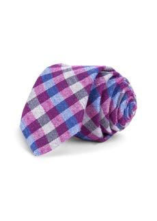 Ted Baker Multicolored Gingham Skinny Tie