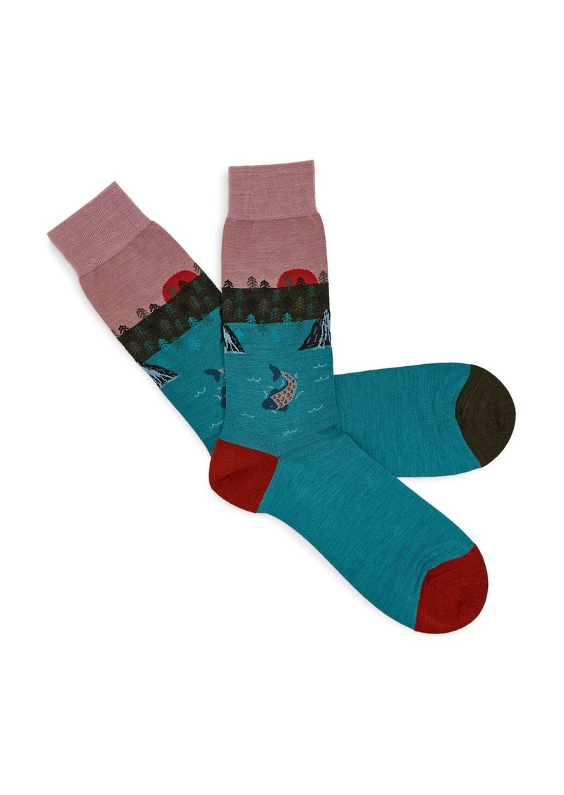 Ted Baker MXS Skylyn Scenic Pattern Pantherella Socks