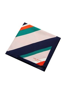Ted Baker Nan Stripe Silk Pocket Square