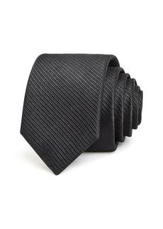 Ted Baker Ottoman Tonal Textured Stripe Solid Silk Skinny Tie