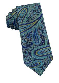Ted Baker Oversized-Paisley Silk Tie