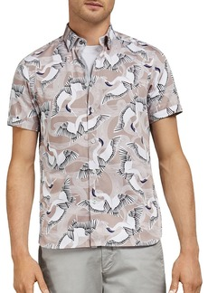 Ted Baker Ozcar Bird Print Slim Fit Shirt