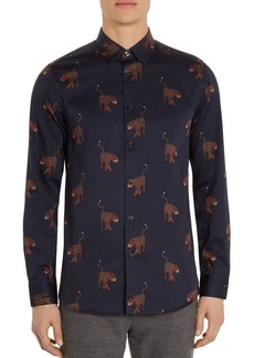 Ted Baker Pantha Regular Fit Button-Down Shirt