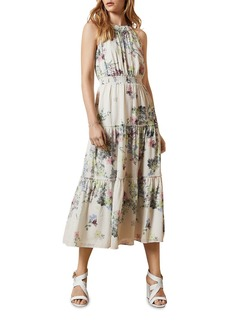 Ted Baker Pergola Tiered Halterneck Midi Dress (63% off) - Comparable value $349