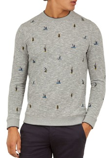 Ted Baker Piano Embroidered Sweatshirt