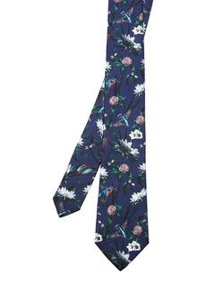 Ted Baker Pochar-Printed Kingfisher Silk Skinny Tie
