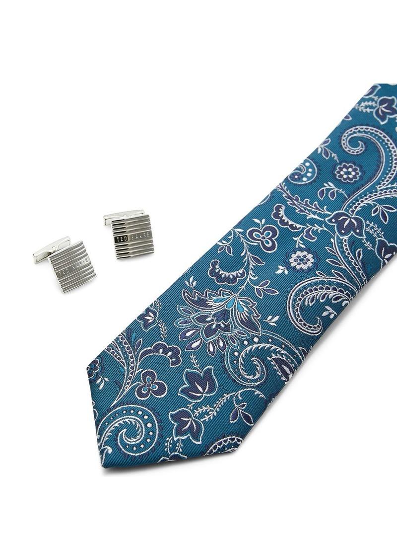 Ted Baker Posset Cufflinks & Skinny Tie Gift Set