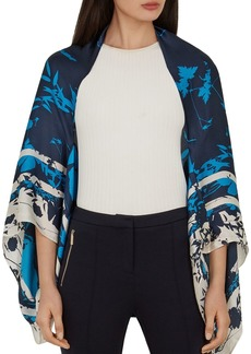 Ted Baker Ppaula Bluebell Silk Cape Scarf