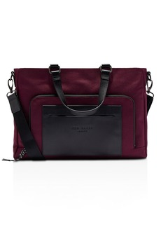 Ted Baker Quays Color-Block Mixed-Media Document Bag
