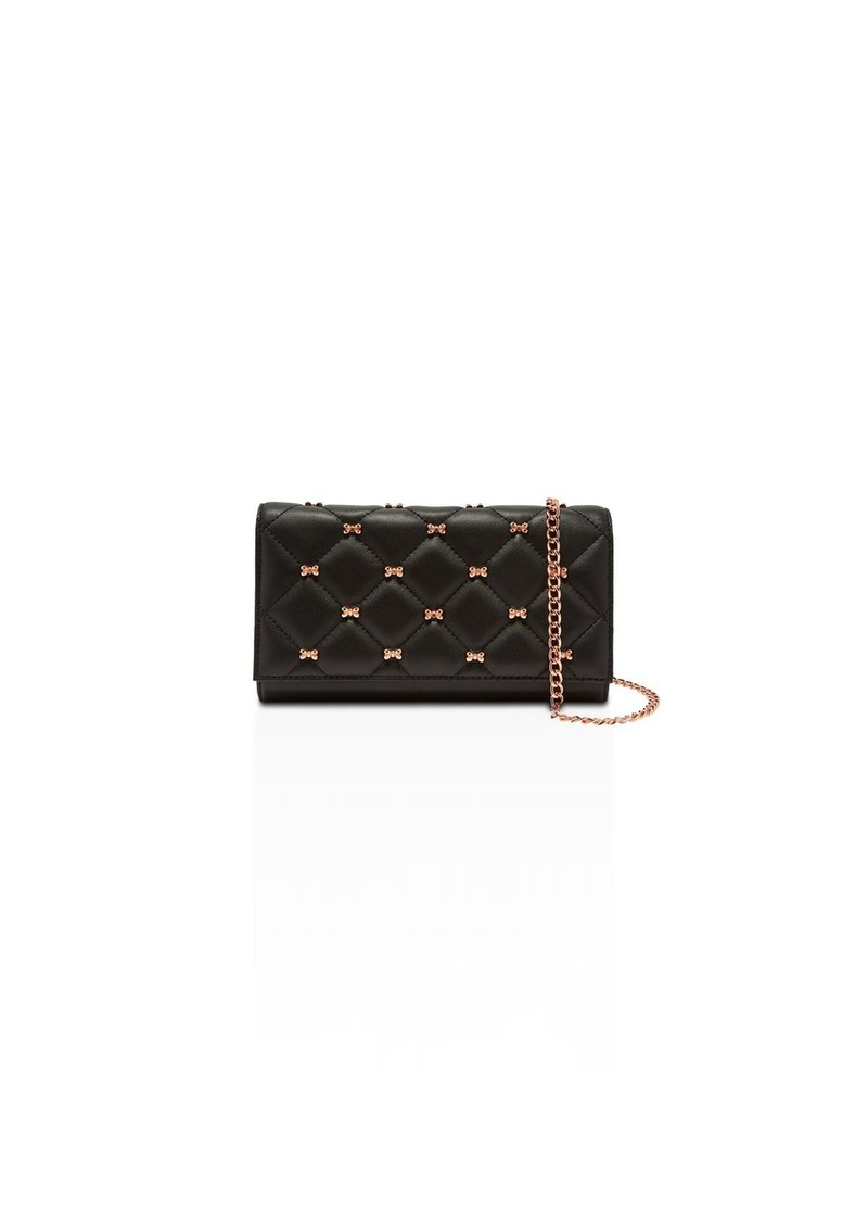 Ted Baker Quilted Leather Matinee Bow Crossbody