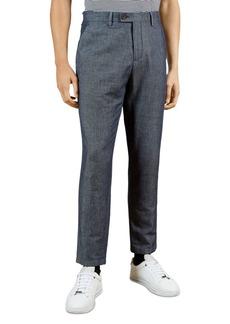 Ted Baker Regular Fit Denim Look Smart Trousers
