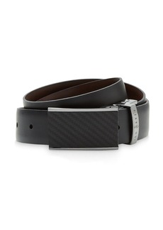 Ted Baker Reversible Belt with Carbon Fibre Buckle