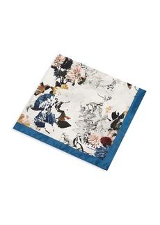 Ted Baker Romney Dotted Floral-Print Silk Pocket Square