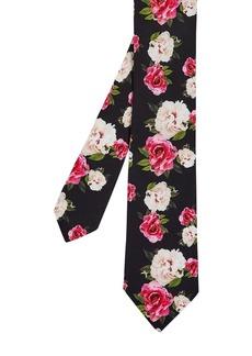 Ted Baker Rosetie Rose Silk Skinny Print Tie