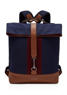 Ted Baker Runer Knitted Fold-Over Rucksack