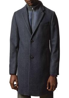 Ted Baker Saffend Semi-Plain Overcoat