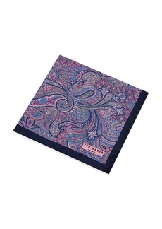 Ted Baker Sagloo Paisley & Lily Silk Pocket Square
