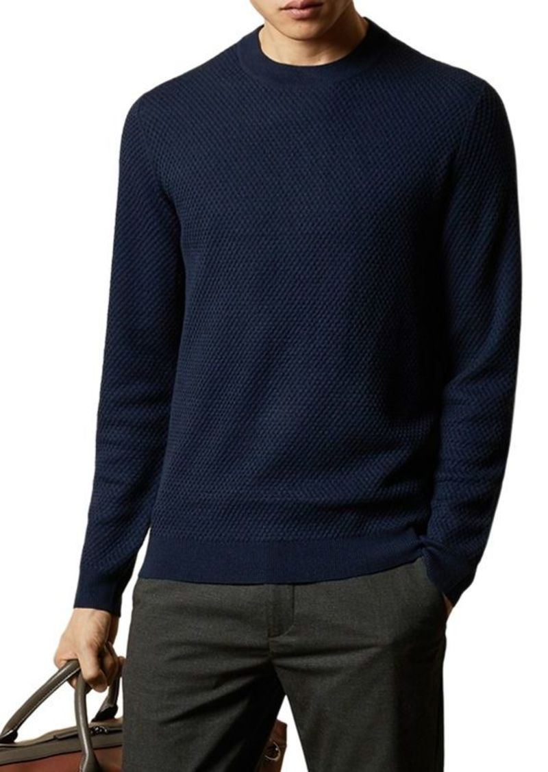 Ted Baker Seer Waffle-Stitch Crewneck Sweater