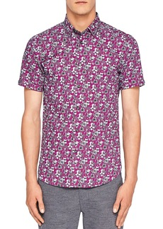 Ted Baker Sellla Printed Floral Regular Fit Button-Down Shirt