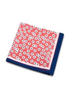 Ted Baker Silk Daisy Print Pocket Square