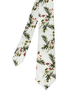 Ted Baker Silk Floral Print Skinny Tie