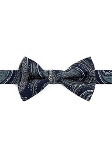 Ted Baker Silk Paisley Print Bow Tie