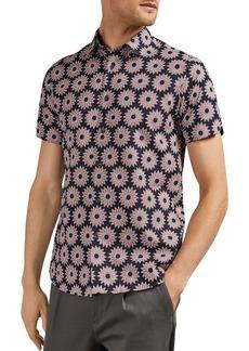 Ted Baker Spunge Flower Print Slim Fit Shirt