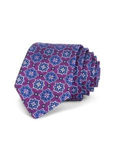 Ted Baker Starburst Medallion Silk Skinny Tie