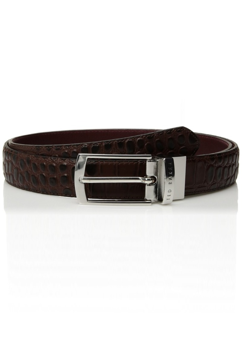 Ted Baker Sunflow Mens Leather Reversible Belt XCHOCOLATE