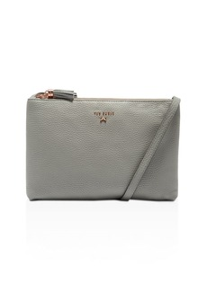 Ted Baker Suzette Leather Double Zipped Leather Crossbody