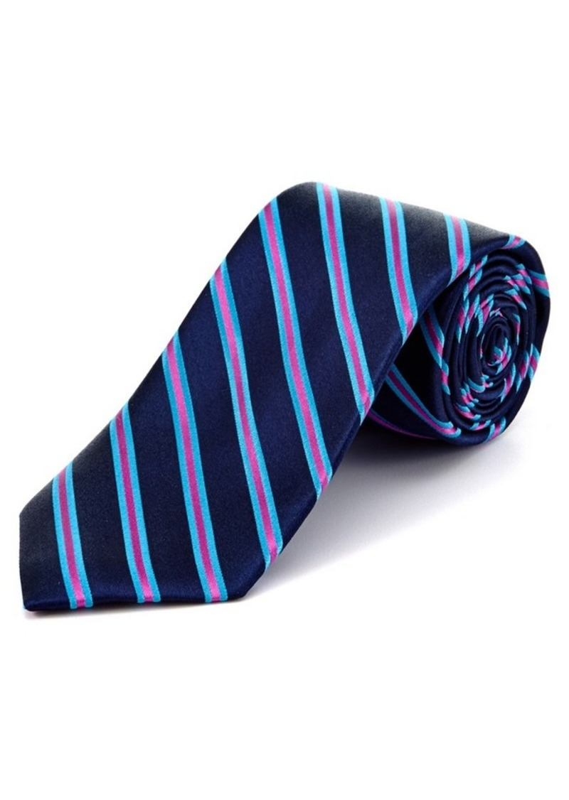 Ted Baker Ted Baker Navy Striped Silk Tie