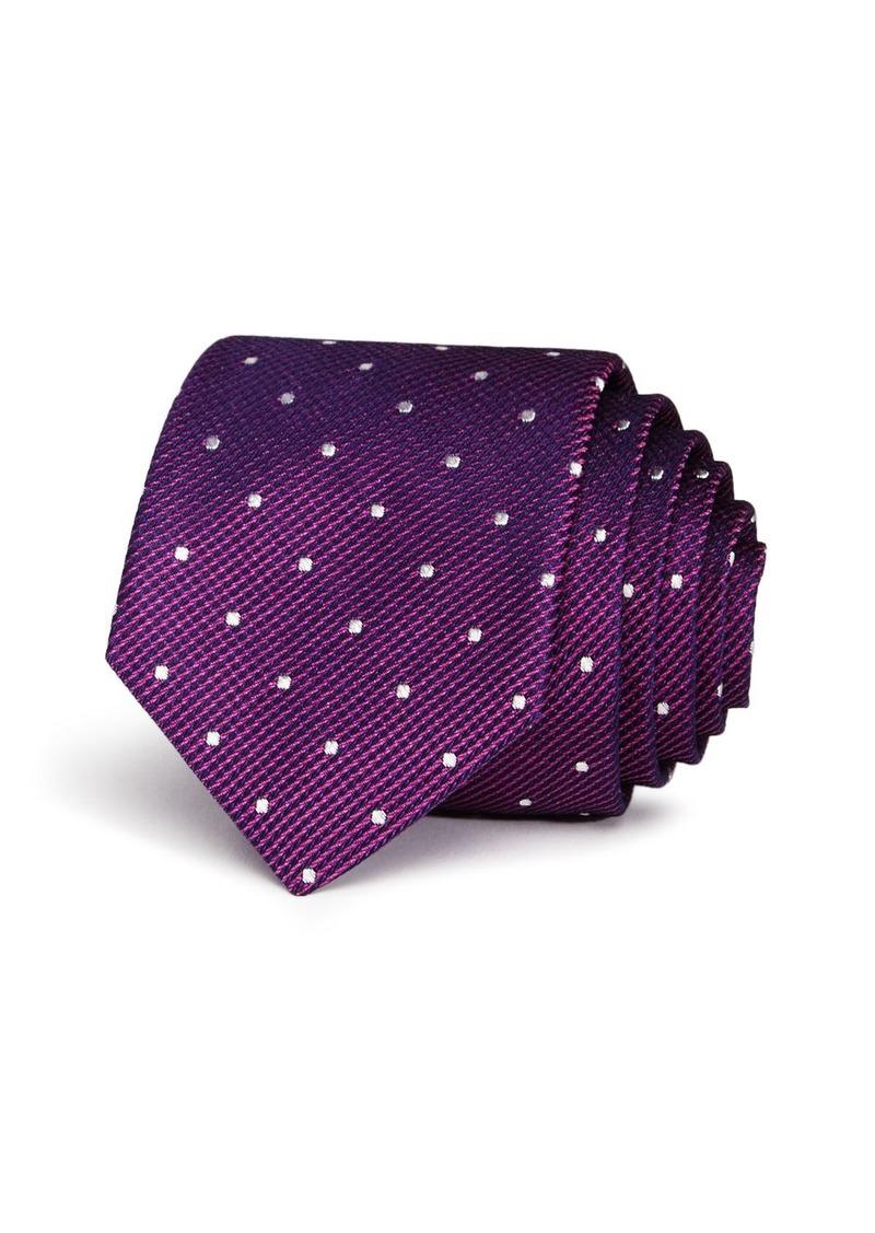 Ted Baker Textured Dot Skinny Tie