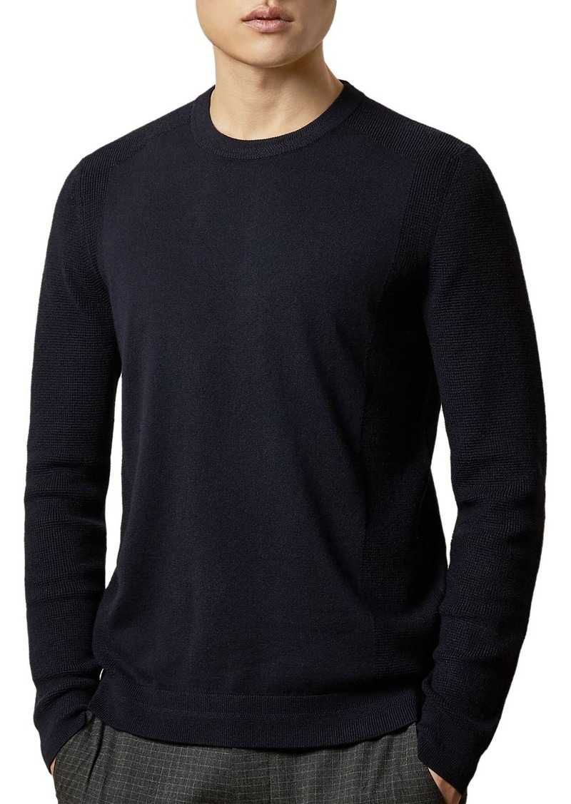 Ted Baker Textured-Stitch Crewneck Sweater