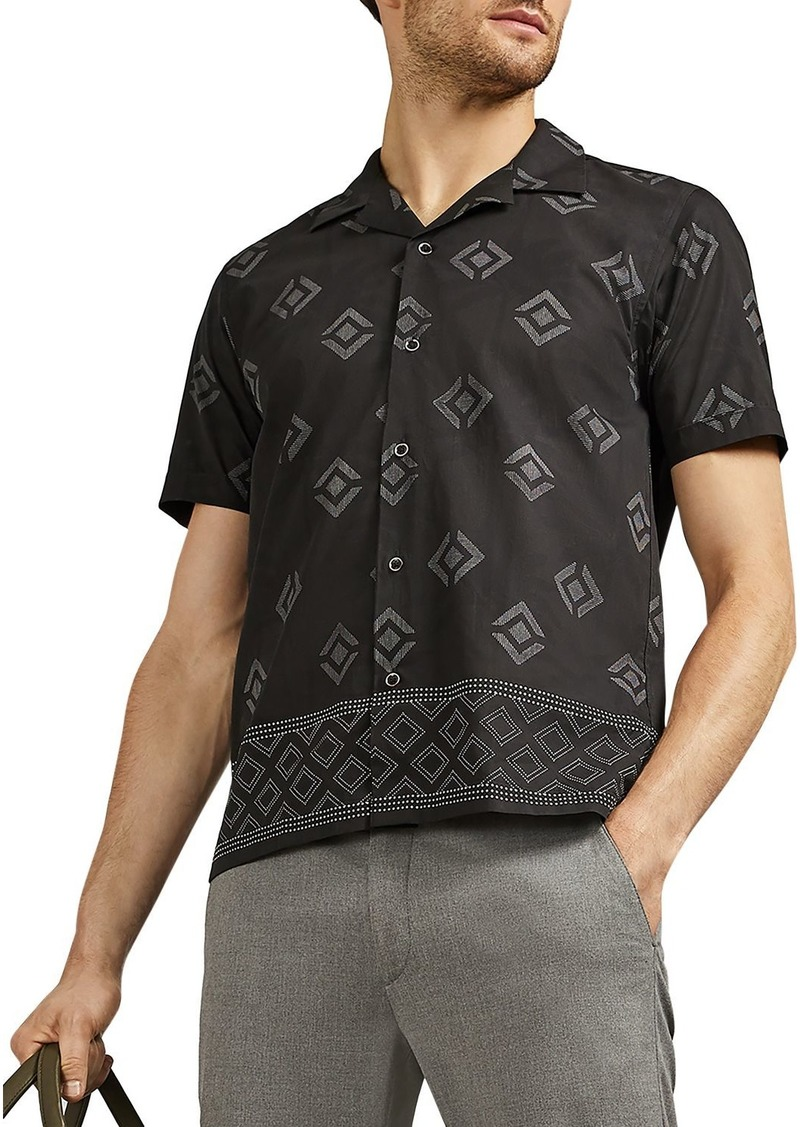 Ted Baker Theodor Palm Short-Sleeve Slim Fit Shirt