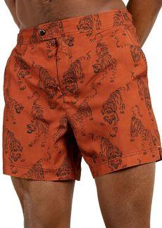 Ted Baker Tiger Print Swim Trunks