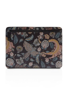 Ted Baker Tiggs Printed-Leather Document Bag