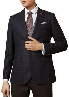 Ted Baker Tight Lines Check Print Blazer