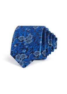 Ted Baker Tonal Botanical Silk Skinny Tie