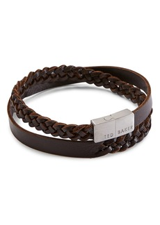 Ted Baker Trabek Braided Leather Wrap Bracelet