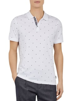 Ted Baker Tuka Palm Tree Print Regular Fit Polo Shirt