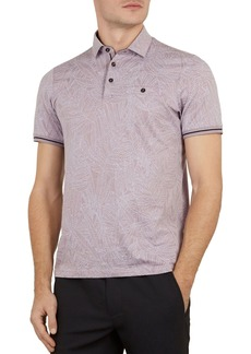 Ted Baker Vaness Leaf Print Slim Fit Polo Shirt