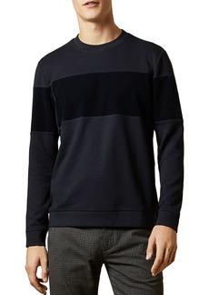 Ted Baker Wander Velvet-Panel Sweatshirt